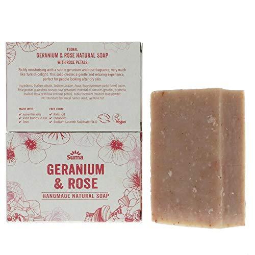 Suma Handmade Soaps | Rose & Geranium Soap | 1 x 95g