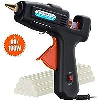 Hot Glue Gun, TOPELEK 60/100W Dual Power High Temp Heavy Duty Professional Melt Glue Gun with Glue Sticks(12pcs,11mm) for DIY, Crafts, Wood, Fabric, Quick Repairs