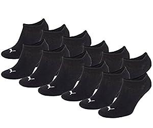 PUMA Sneaker Invisible 12er Pack=12 Paar,UR (43/46, Schwarz)