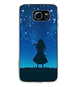 ifasho Girl playing violin Back Case Cover for Samsung Galaxy S6 Edge Plus