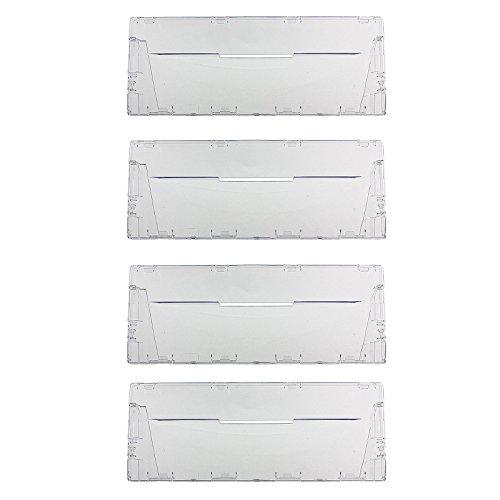 spares2go Kunststoff Schublade Klappe Front-Griff für Ariston Kühlschrank Gefrierschrank (4Stück) -