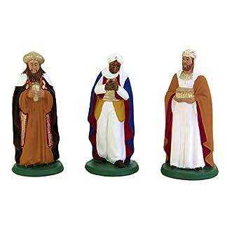 Figuras Nacimiento Grandes, Reyes Magos 3pz, Belén De Terracota pintada a mano de Caltagirone, idee regalo de Navidad