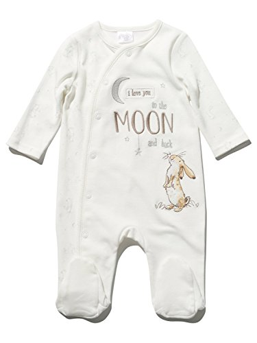 unisex-guess-how-much-i-love-you-character-long-sleeve-integrated-feet-slogan-pure-cotton-sleepsuit-