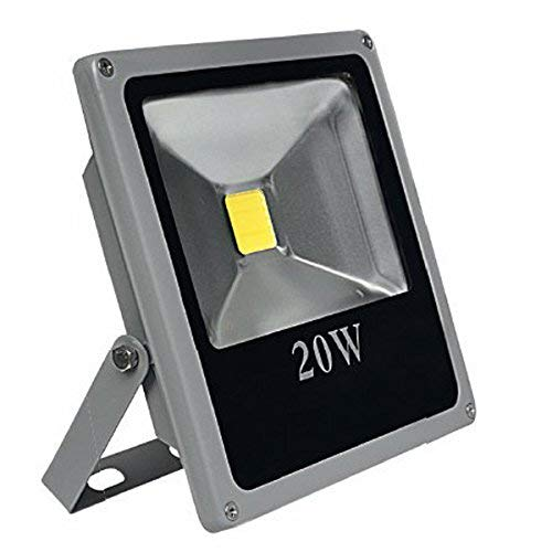 CristalRecord Proyector LED Extraplano para Exterior, 20 W, Gris, 19,5 x 18...