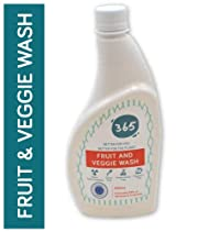 365 Fruit and Veggie wash, non toxic made from apple cider vinegar