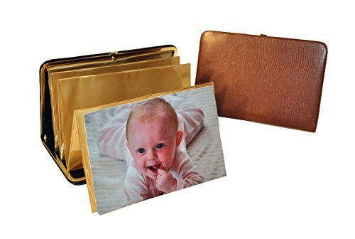 budd-leather-lizard-print-portable-framed-photo-case-4-by-6-inch-cognac-by-budd-leather