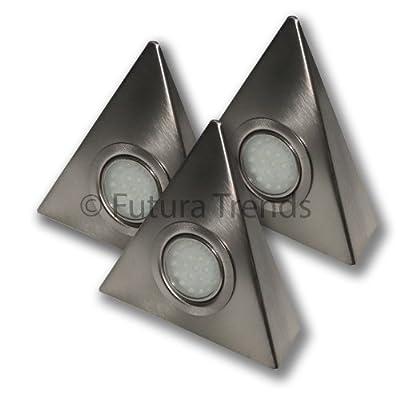 3er Set LED Dreieckleuchte mit Zentralschalter