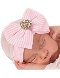 iEFiEL Babymütze Baby Mädchen Mütze - Neugeborenenmütze Erstlingsmütze Strick Mütze Hut- Baumwolle