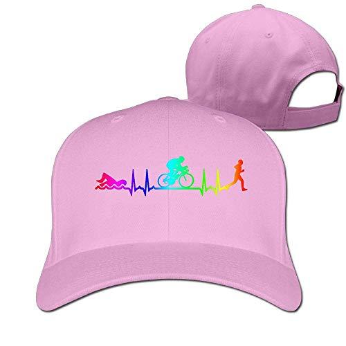 Zcfhike Frauen Männer Triathlon Heartbeat-3 Verstellbare Kappe Multicolor90