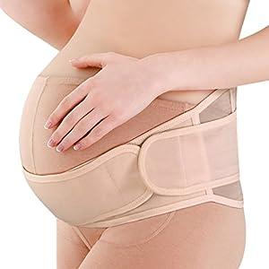 Dexinx Mutterschaft Gürtel Schwangerschaft Unterstützung Gürtel Atmungs Bauch Band Einstellbare Abdominal Binder Rücken und Becken Stützgürtel