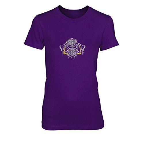 Power Splash - Damen T-Shirt, Größe: XL, Farbe: lila (Power Rüstung Kostüm Fallout)