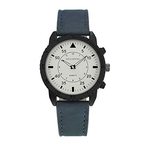 Knowin Uhren 2019 Mode Neue Herrenuhr Retro Design Leather Band Analog Alloy Quarz Klassische & Elegante Uhren Watches im Vintage Design mit diversen Funktionen