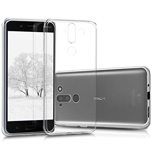 kwmobile Hülle für Nokia 8 Sirocco - TPU Silikon Backcover Case Handy Schutzhülle - Cover klar Transparent