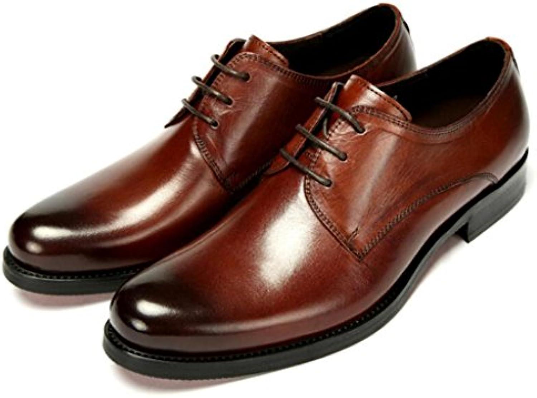 GAOLIXIA Herren Leder Business Schuhe Lace Up Low Top Kleid Schuhe Mode Arbeit Karriere Schuhe Hochzeit Bankett
