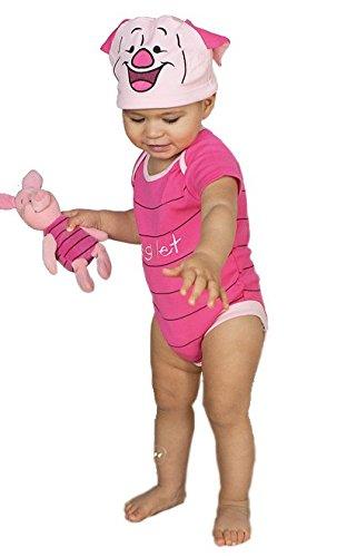Ferkel Babykostüm Kurzarmbody mit Mütze 6-9 Monate / 76cm