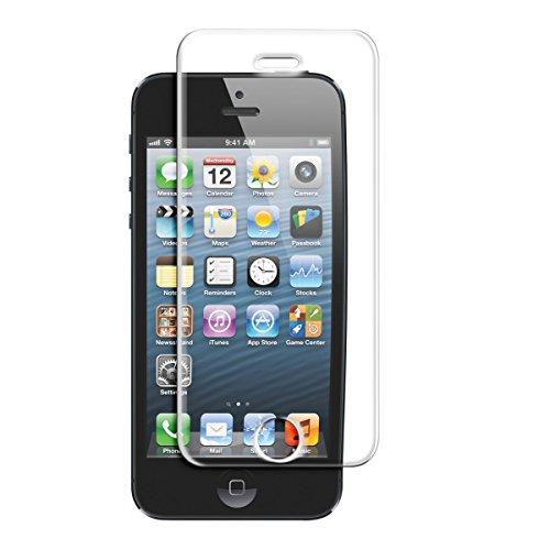 Kwmobile, pellicola protettiva vetro temperato per apple iphone se / 5 / 5s / 5c e proteggi schermo trasparente in vetro protezione ultra resistente