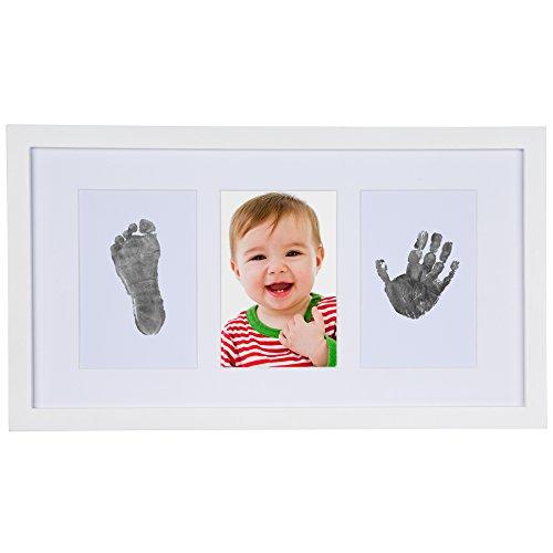 Sweet Memories - Kit de main et empreinte de bébé avec cadre, cadeau idéal pour naissance complet avec Baby Safe Ink Pad