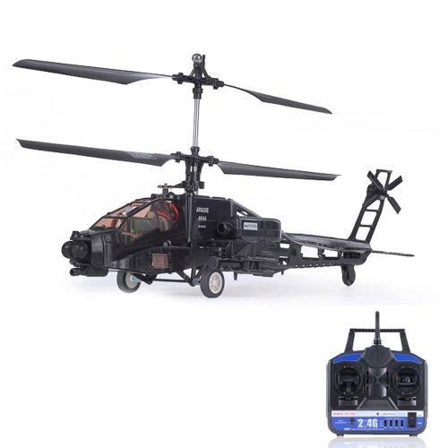 Preisvergleich Produktbild 4 Kanal Apache AH-64 - RC ferngesteuerter Hubschrauber-Modell, Helikopter mit Gyro-Technik und dem neuesten 2,4GHz-System, Outdoor-Heli, Neu