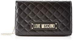 Idea Regalo - Love Moschino Borsa Quilted Nappa Pu, Tracolla Donna, (Nero), 14x6x22 cm (W x H x L)