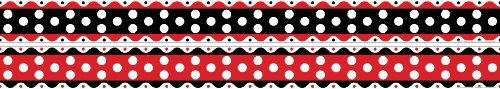 ice Products doppelseitig Bulletin Board Grenze, Just Dotty, 35'(ll-980) ()