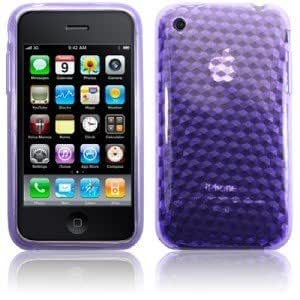 BPM Purple Protective Armour Silicone Gel Case & screen Protector for Apple iPod Touch 4th Generation 4 4g 8gb 16gb 32gb 64gb