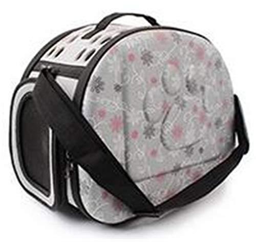 ekcnjs Hundekatze-Bett-Matten-Haus-Faltbare Reise-Träger-Handtasche-Welpen-tragende Rucksäcke Netz-Schulter-Beutel Gray S -