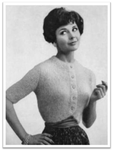 e0f7084cd  1749 MOHAIR SHRUG VINTAGE KNITTING PATTERN by  Princess of Patterns