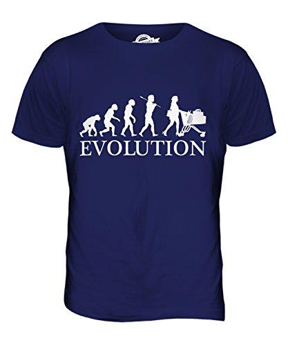 CandyMix Einkaufen Evolution Des Menschen Herren T Shirt Navy Blau