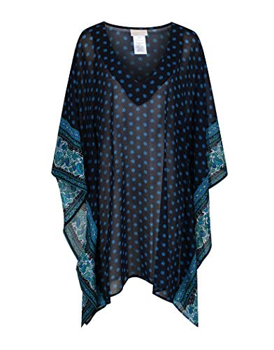 Michael Kors Sunny Batik Border Kaftan X Small/Small New Navy