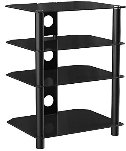 NavePoint Media Stand Glass 4 Sh...