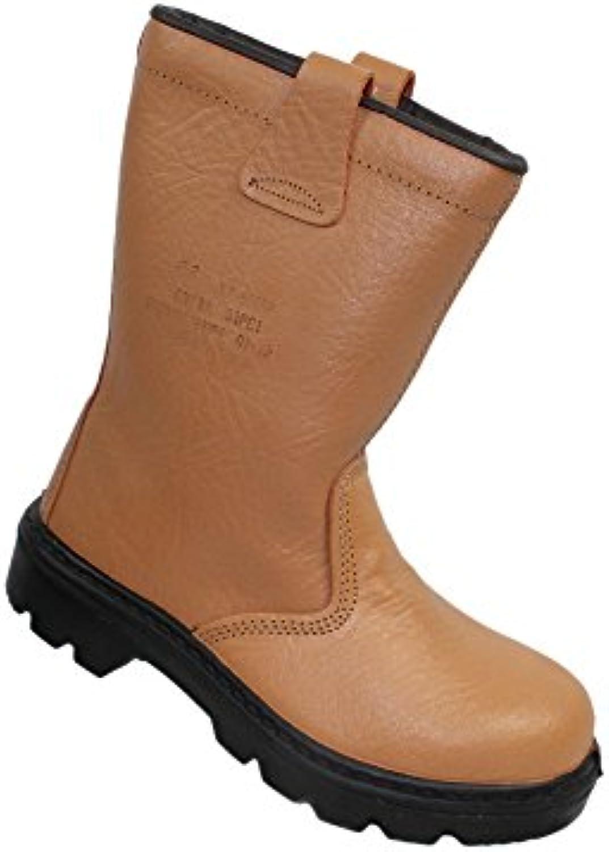 Rigger - Calzado de protección de Piel para hombre Marrón marrón