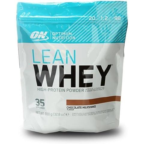 Optimum Nutrition Lean Whey Suplemento para Deportistas, Sabor de Chocolate - 930 gr