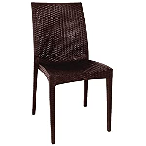 41pZTDZhB0L. SS300  - Bolero GR361 PP Rattan Bistro Side chair, Brown (Pack of 4)
