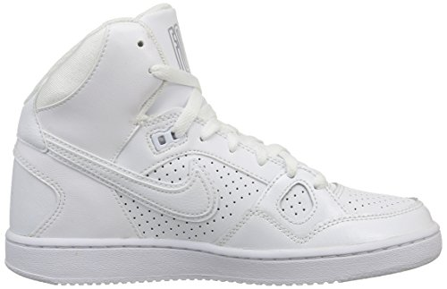Nike Wmns Son Of Force Mid, Scarpe sportive, Donna White/White-Wolf Grey-White