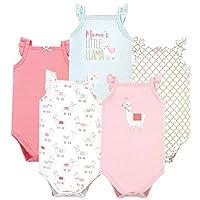 Hudson Baby Unisex Baby Cotton Sleeveless Bodysuits, Llama, 0-3 Months
