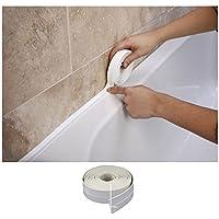 honeysuck 3,2m oficina en casa uso impermeable moho cinta esquina de cocina baño adhesivo de vinilo (color blanco)