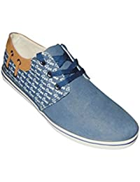 SA ENTERPRISES SAE Denim Blue Lace Up Casual Shoes For Mens