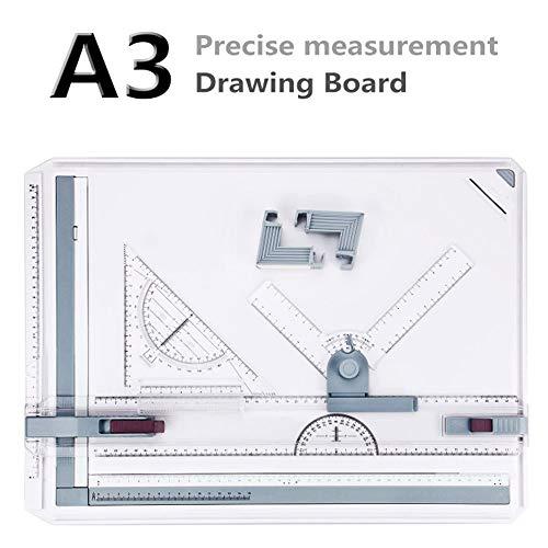Hiriyt A3 Zeichenplatte Zeichenbrett DIN A3 Zeichentisch Professionell Arbeiten Schnellzeichenplatte 49 x 35,5 x 1,3 cm (A3)