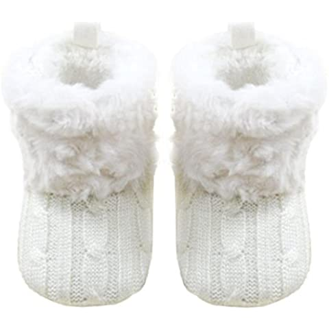 Transer® Botas de nieve suave Cuna bebe botas zapatos niño