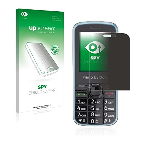 upscreen Spy Shield Clear Blickschutzfolie / Privacy für Doro Primo 305 (Sichtschutz ab 30°, Kratzschutz, selbstklebend)