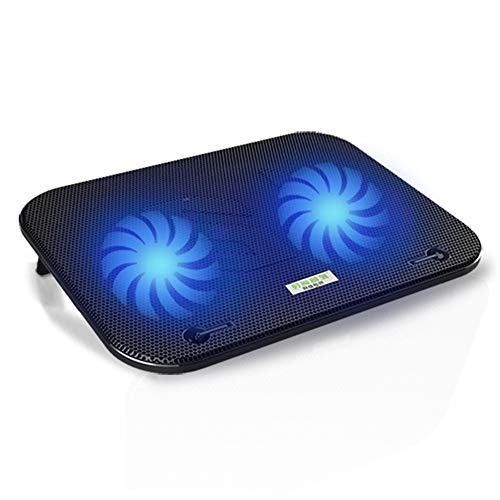 WANGHH 12-15,6 Zoll Notebook-Kühler, mit 2 blauen LEDs, 2 großen Lüftern, mit USB-Anschluss, Ultra-schlanker, geräuscharmer Laptop-Notebook-Kühler Kühlerhalterung Kühlerfuß