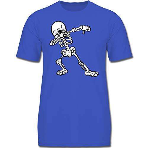 Anlässe Kinder - Dabbing Skelett - 164 (14-15 Jahre) - Royalblau - F130K - Jungen Kinder T-Shirt