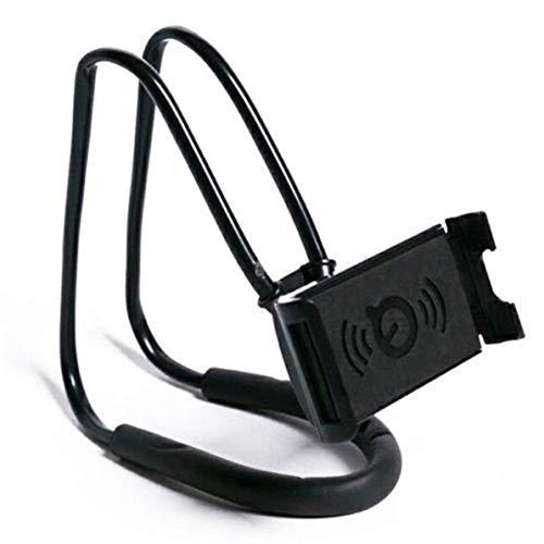 WEIWEITOE Portable Paresseux Cou Support De Bureau De Suspension Suspension Taille Mobile Téléphone Support De Fixation Clip Support Flexible pour iPhoneNoir