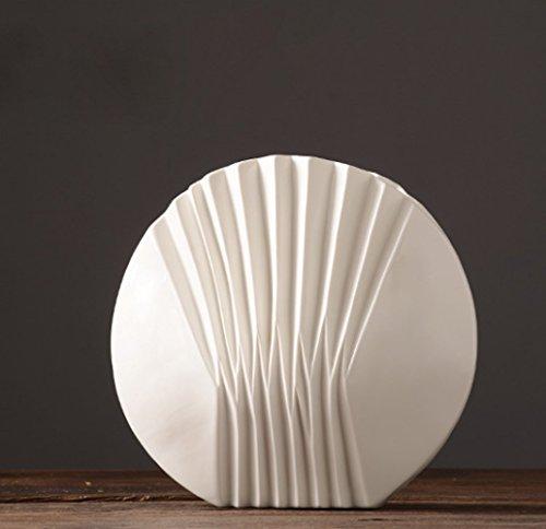 Vase Tischdeko-Vase Moderne Schlichtheit Weiße Chinesische Keramik Vasendekoration Blumengesteck,15*8*12.8