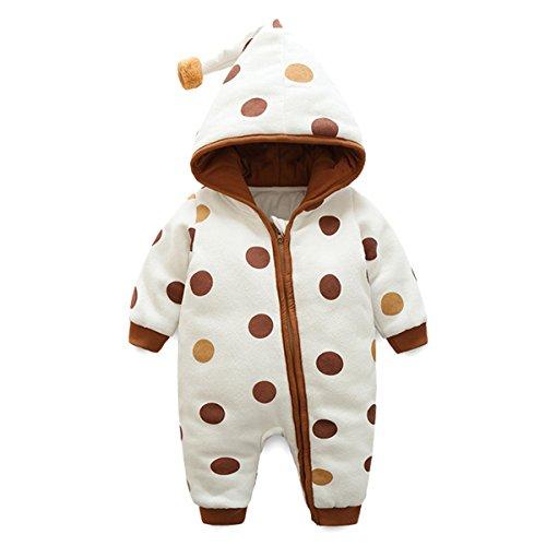 Bebone Baby Kleidung Jungen Mädchen Strampler Neugeborenen Overall (Braun, 18-24Monate/90cm)