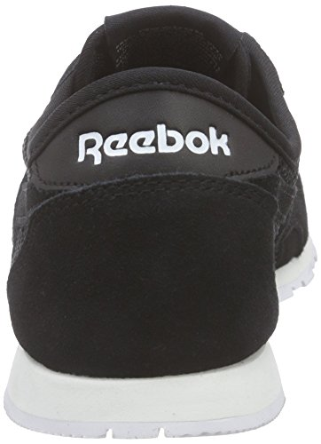 Reebok Classic Nylon Slim Mesh, Chaussures de Course Femme, Mehrfarbig Noir (noir/blanc)