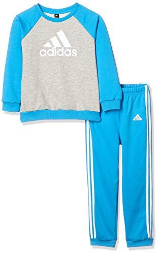 adidas Baby-Jungen I Logo Jogg Ft Trainingsanzug, Mehrfarbig (Brgrin/Ciasho/Weiß), 80