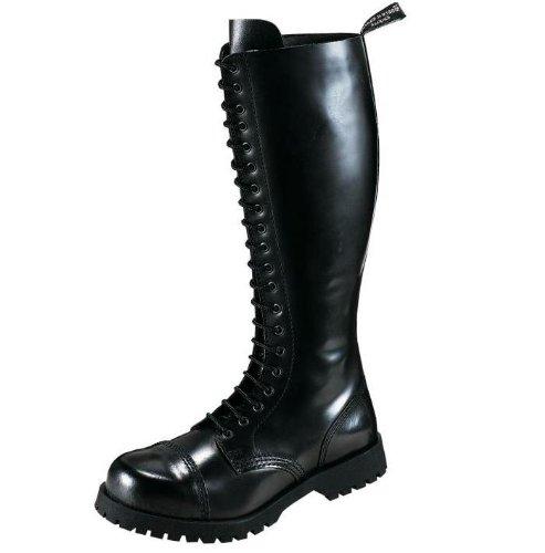 Boots & Braces Stiefel 20-Loch Rangers Schwarz Noir - Noir