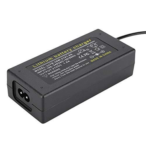 Bewinner 21V 1.8A Netzteiladapter Transformatoradapter Netzteil mit LED-Kontrollleuchte Netzteil für Scheinwerfer, Spielzeugautos, Laufräder(EU Stecker)