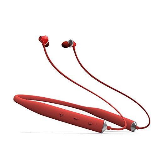 Bluetooth 4.2 Kabellos In-Ohr Kopfhörer Neckband Sport Magnetisch Kopfhörer mit Mikrofon für iPhone/Android, Rot S7…